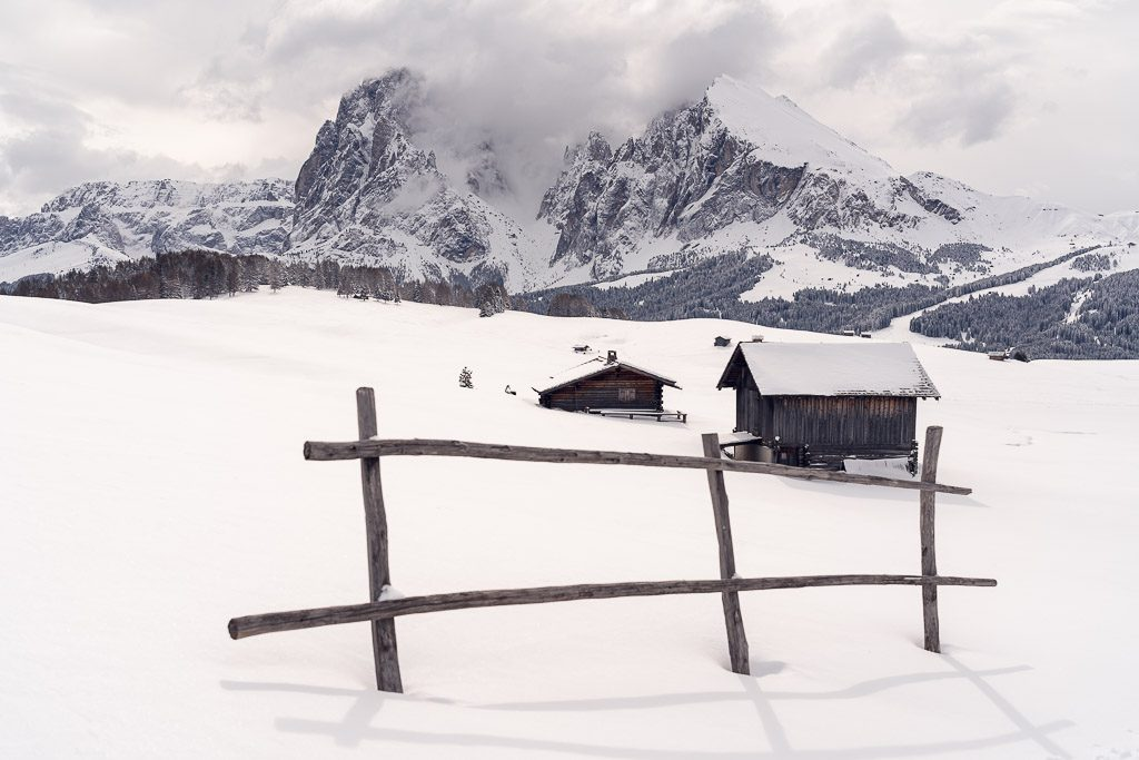 Dolomites - Seiser Alm - winter - snow - white - mountains - landscape photography - romanian photographer - creartphoto