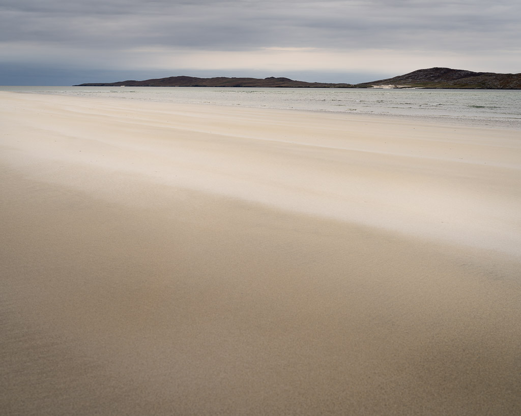 beach - light sand - untouched - sea - ocean - hills - sand - untouched - harris - scotland - clouds - landscape photography - travel photography - creartphoto